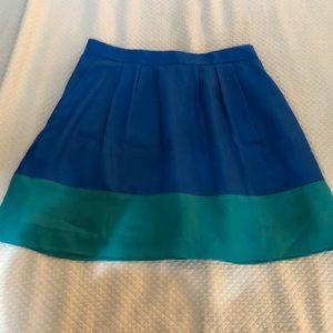 J. Crew color block skirt